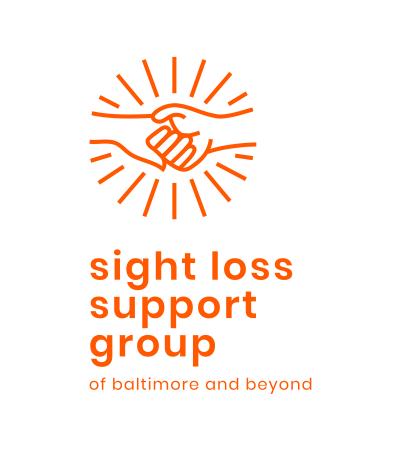 Sight Loss Support Group of Baltimore and Beyond text logo.